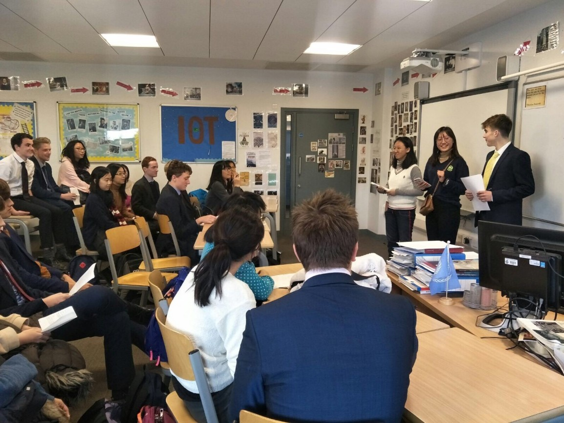 Visit of Nanyang Girls' High School to the Perse School, Cambridge